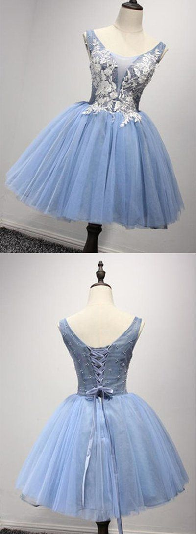 Luxurious A-line Straps Knee Length Short Organza Homecoming Dresses