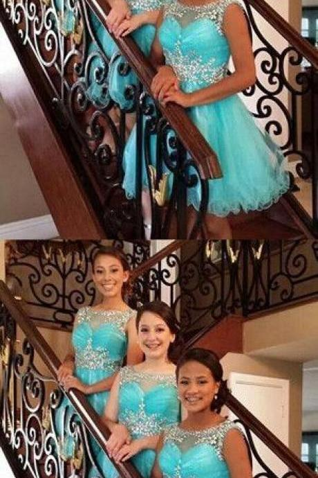 A-line Homecoming Dress Short Prom Drsess bridesmaid Dresses